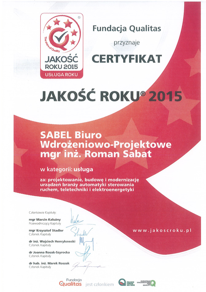 Srebrne Godło - Quality International - 2014